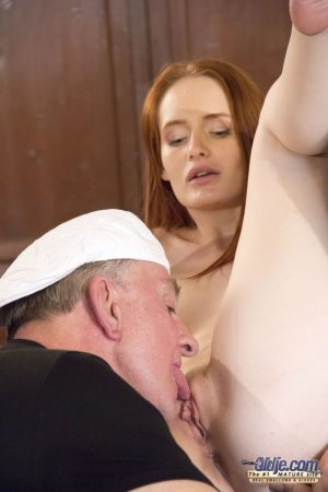 Teen sluts Denisa Heaven & Tina Blade get pounded doggystyle by two old men