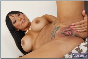 Asian MILF on high heels Gaia stripping and showing her fuckable body
