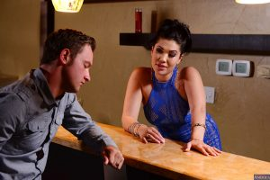 Asian wife with brunette hair London Keyes seduces a younger dude