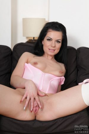 Brunette wife Inga has her pussy sucked by her cuckold with a BBC in her ass