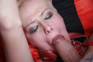 Submissive blonde in lingerie gets abused and banged hardcore anally