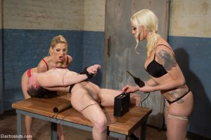 Slave Bonnie Day gets tortured & finger fucked by Ashley Fires & Lorelei Lee