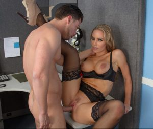 Busty secretary Nicole Aniston gets her fake tits jizzed after workplace bang xxx photos gallery