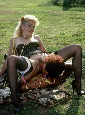 Vintage lesbian pornstars lick pussy and toy outdoors wearing hot stockings xxx photos gallery