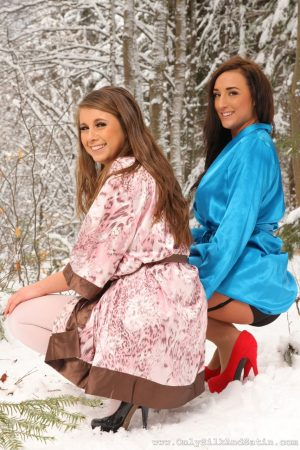 Delightful Sarah James & Stacey P unveil their huge tits in outdoor action