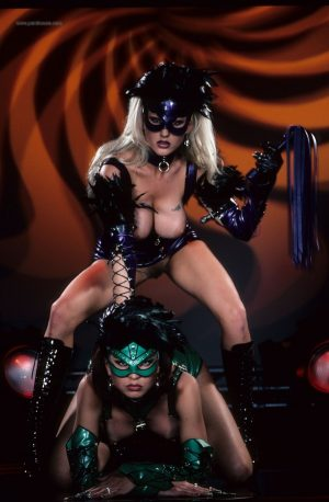 Russian cosplay babes Lexus Locklear & Viccaanal toying with big tits bared