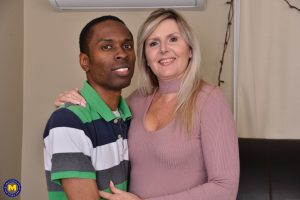 Horny mom Velvet Skye gives a young black guy a great fucking lesson