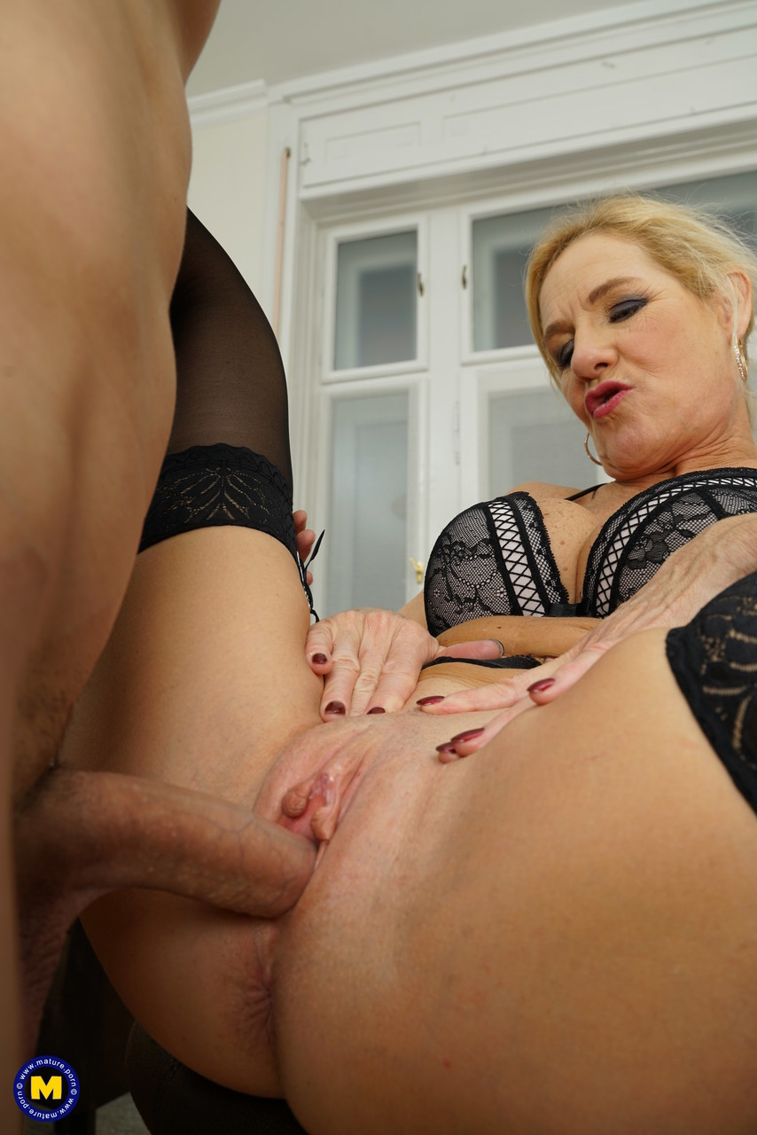 Old mom in sexy lingerie Molly Maracas rides dick while her big tits bounce