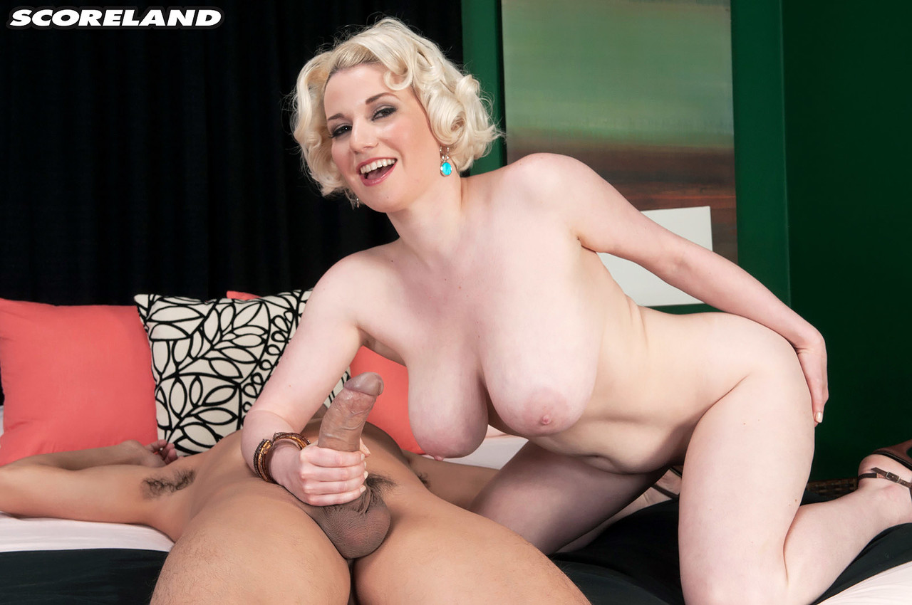 Big titted blonde Goldie Ray sports gaped anus after riding on top during anal