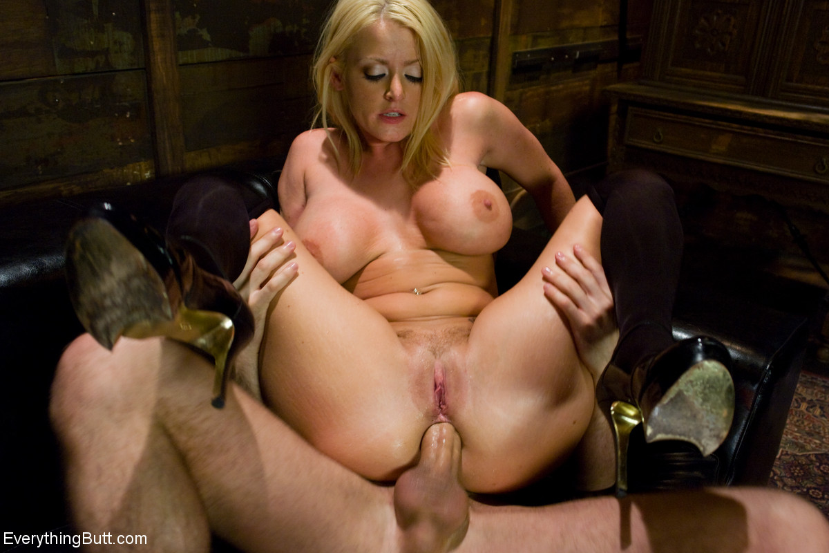 British slave Sophie Dee gets her mouth and ass fucked by a big dicked master
