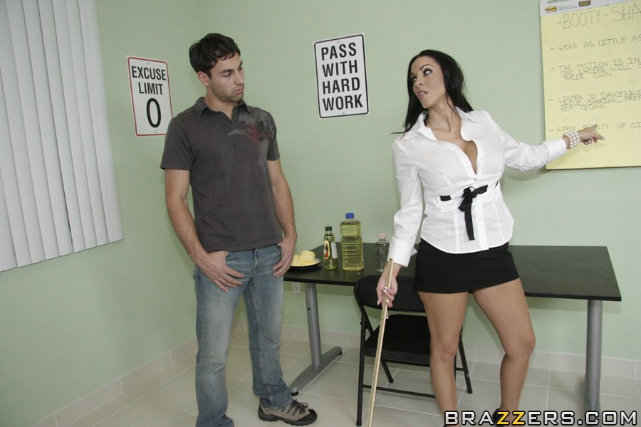 Busty teacher Veronica Rayne seduces young student and gets anal fucked