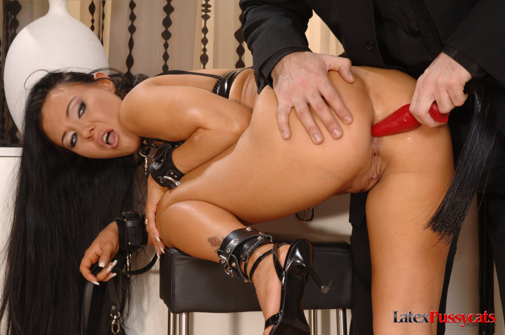 Submissive Valentina Velasquez gets anally fucked, whipped and facialed