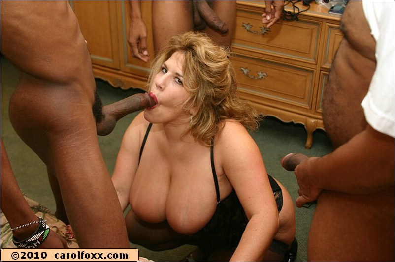 Hot interracial foursome with puffy moms in corsets and huge black cocks
