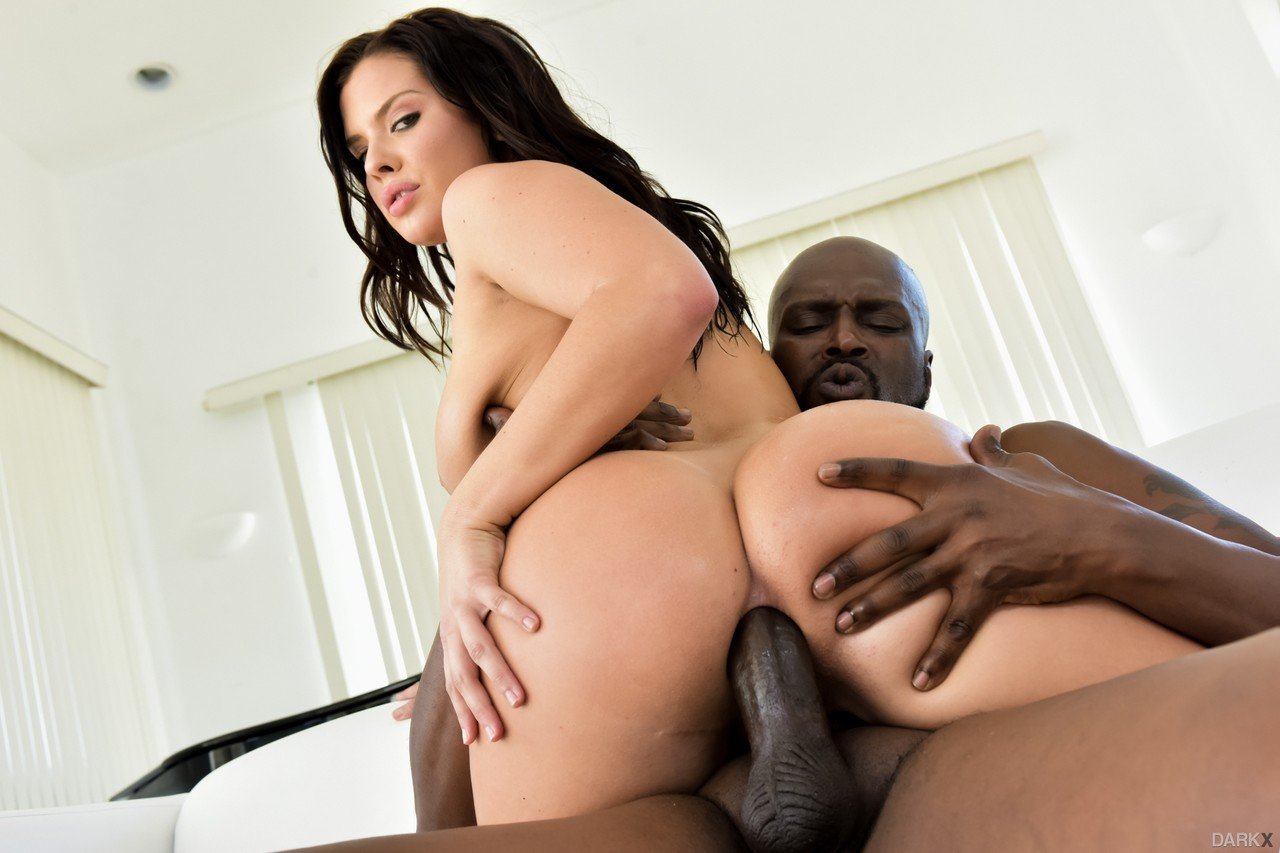 Top pornstar Keisha Grey exhales after a big black dick is buried in her ass