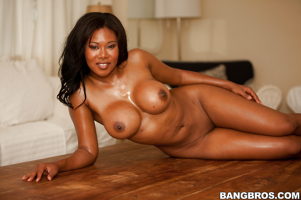 Black MILF Jessica Dawn showing her shapely boobs and butt