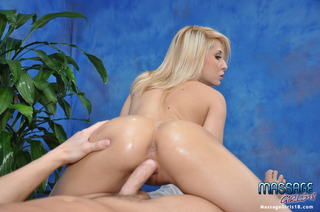 Busty teen babe gives a titjob and gets her shaved cunt fucked hardcore