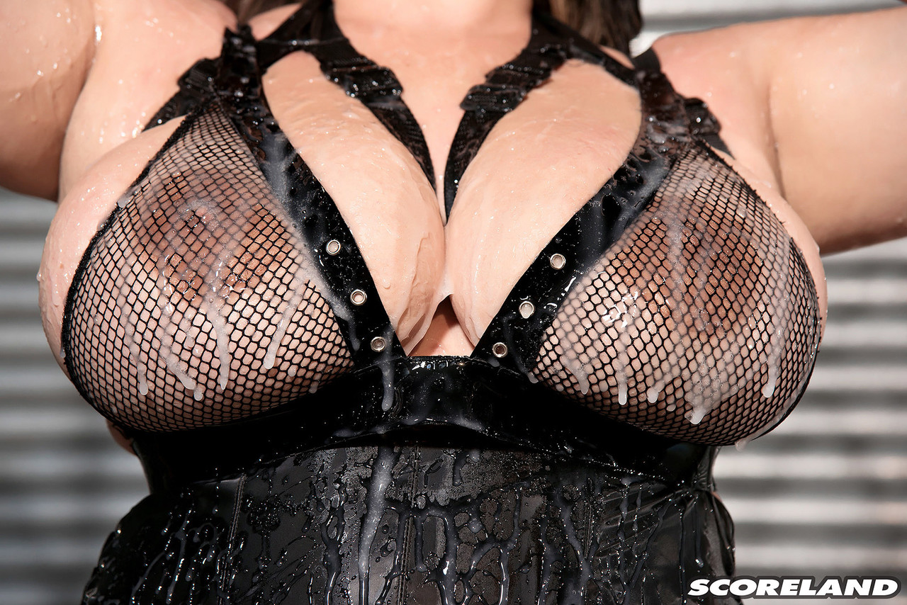 Latina BBW Angelina Castro models solo in revealing lingerie