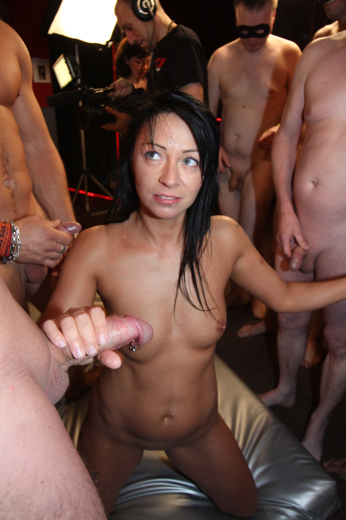 Gina Bang and Mareen De Luxe take on all cocks during wild group sex fucking