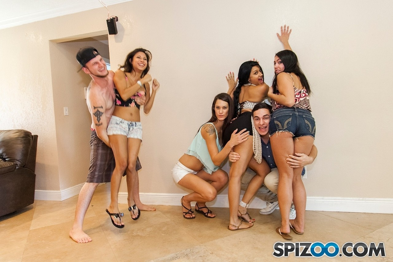 Sinful American college girls get filmed while participating in orgy