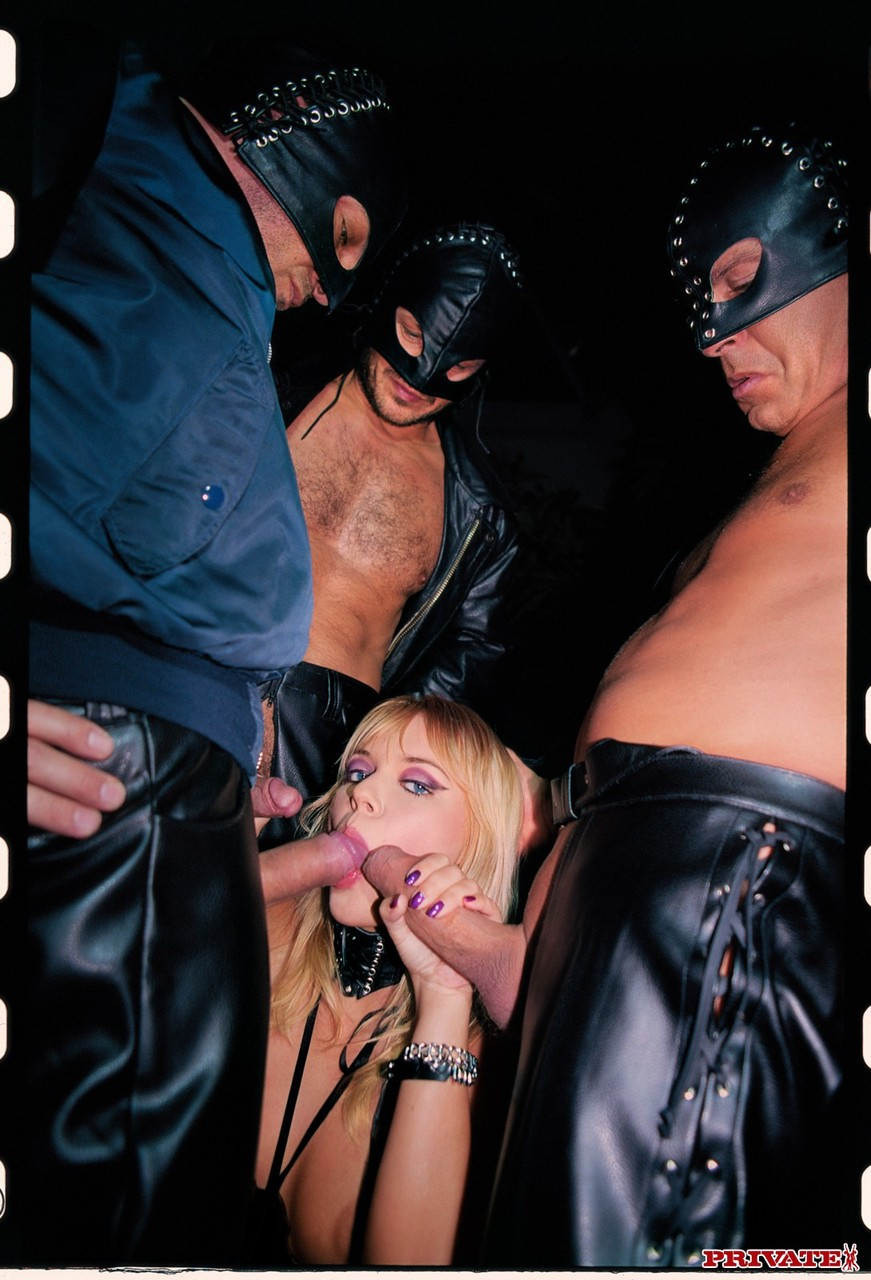 Czech nympho Ellen Saint gets double fucked and facialed in a gangbang