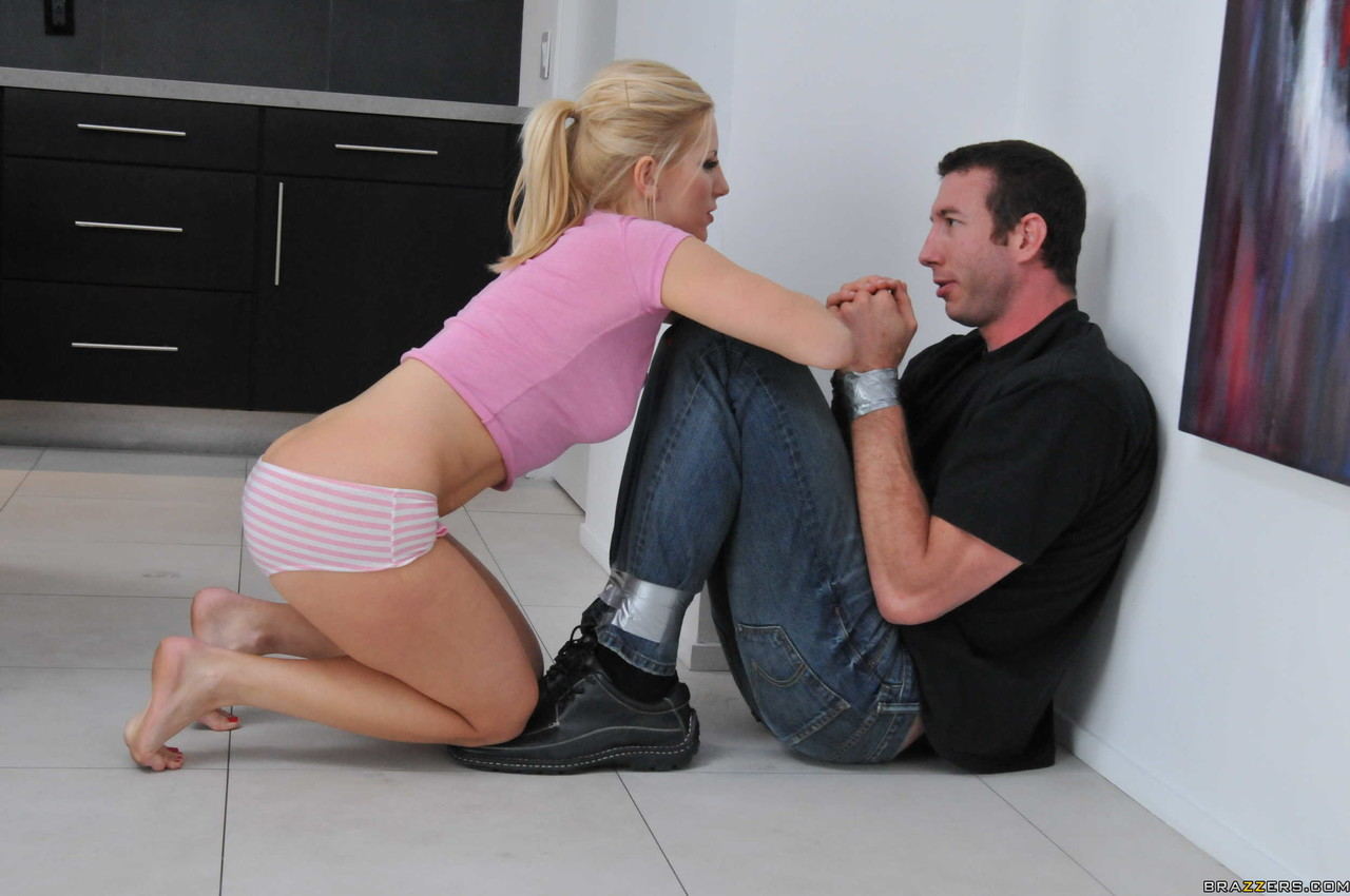 Blonde babe Ashley Fires takes an anal fucking from Jordan at her home