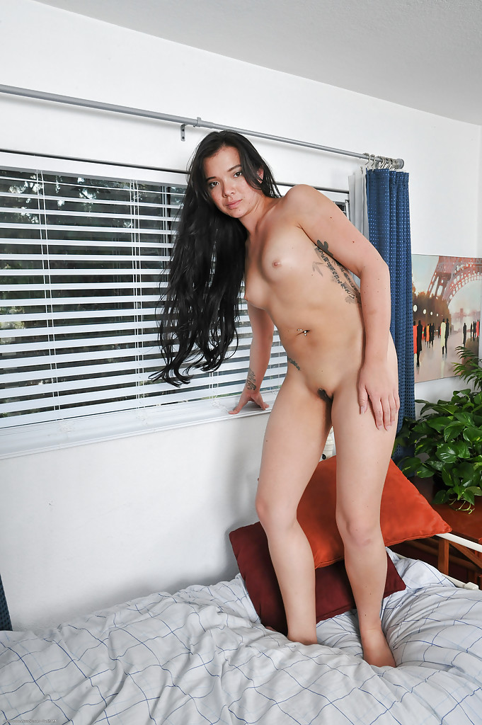 Undressing beauty Asia Levy is showing her hot pussy and tight asshole