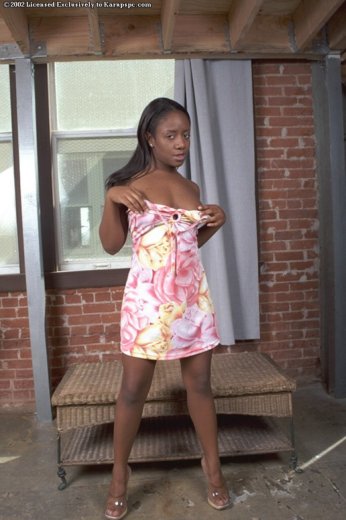 Ebony Andrea is dreaming about hard white dick in her vagina